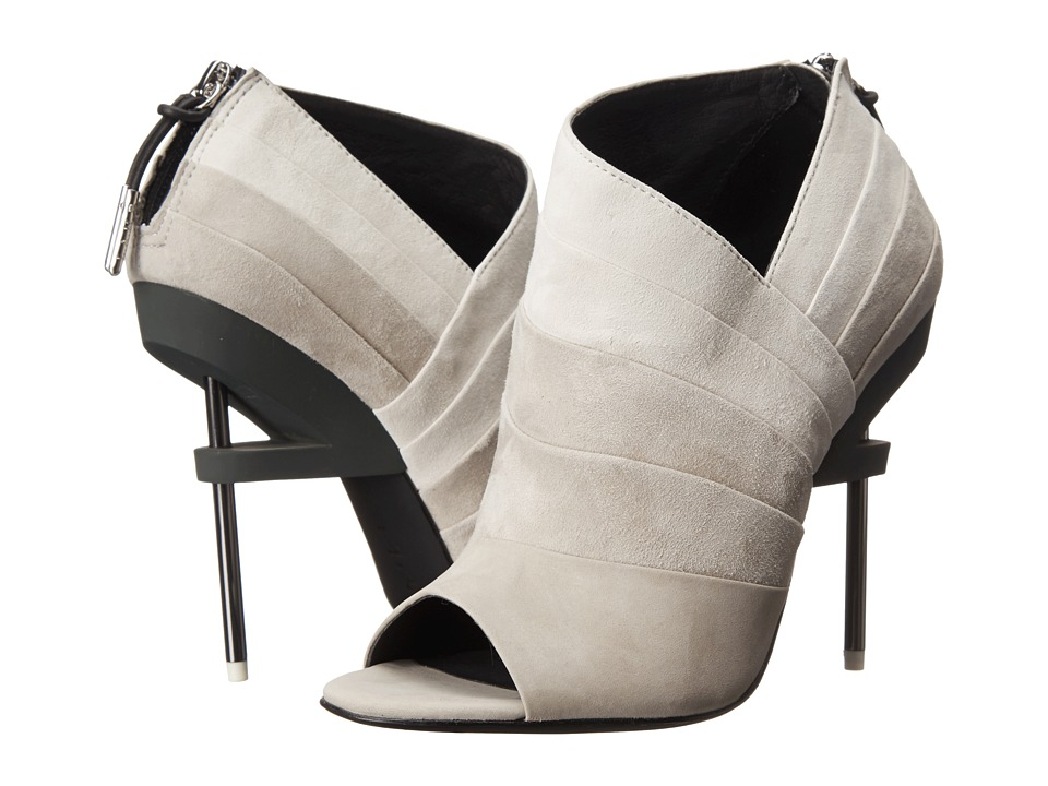 L.A.M.B. - Elastic (Off White) Women's Zip Boots