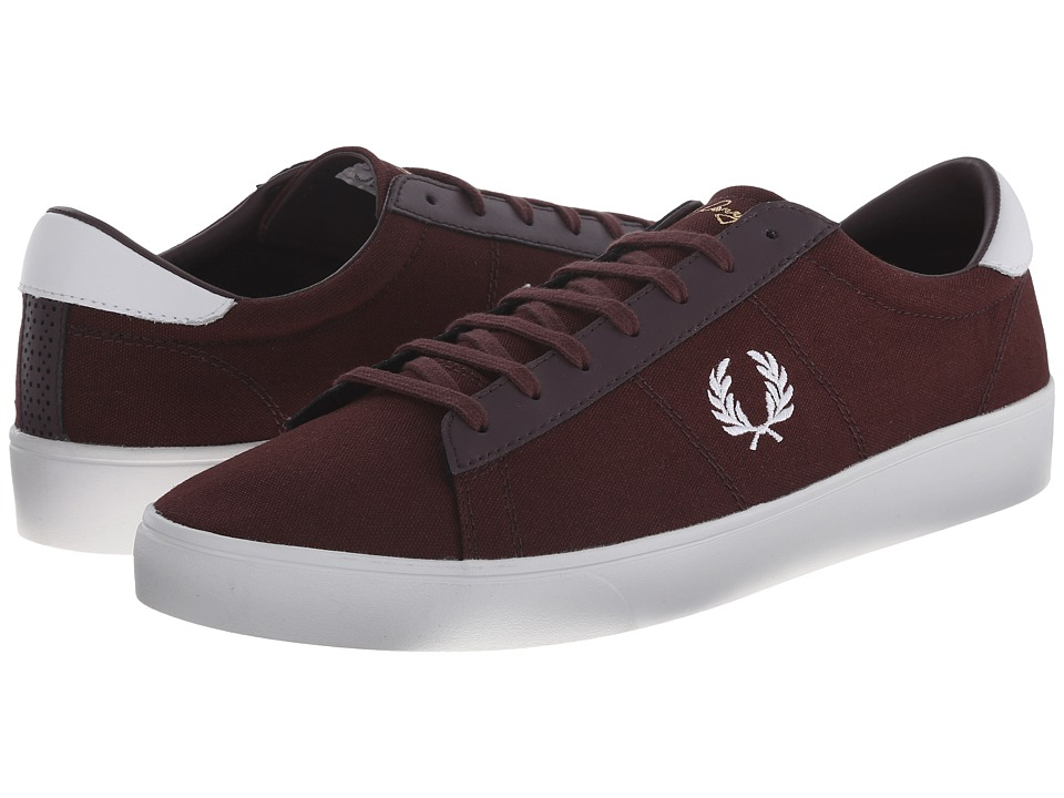 Fred Perry - Spencer Canvas/Leather (Burgundy/White) Men's Shoes