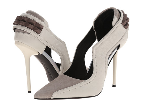 L.A.M.B. - Enforce (Off White/Taupe) High Heels