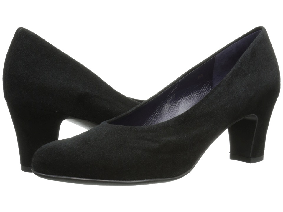 Vaneli - Teri (Black Suede) Women's 1-2 inch heel Shoes