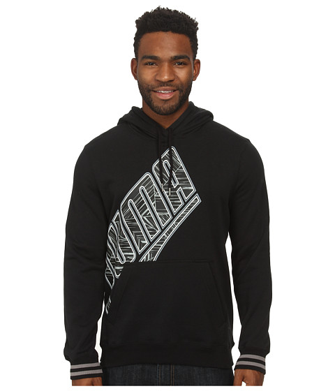 PUMA - Pullover Hoodie (Black/White) Men's Sweatshirt