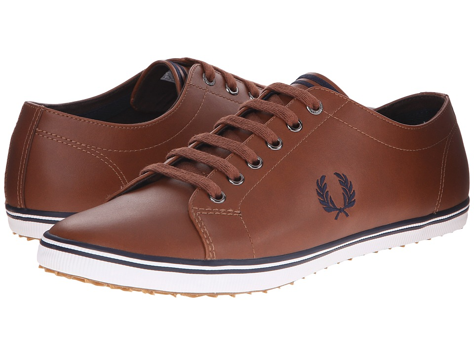 Fred Perry - Kingston Leather (Tan/Carbon Blue) Men's Lace up casual Shoes