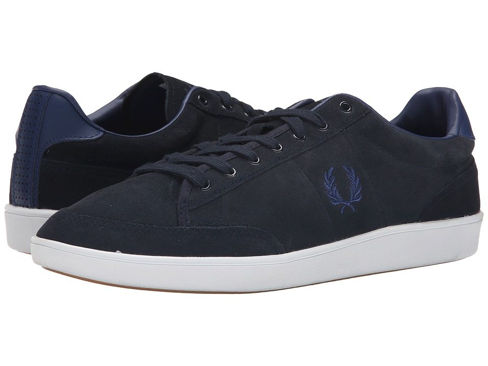 Fred Perry - Hopman Suede (Navy/Pacific) Men