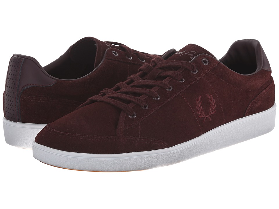 Fred Perry - Hopman Suede (Burgundy/Oxblood) Men's Lace up casual Shoes