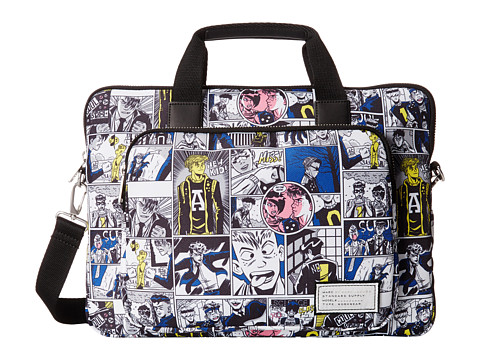 Marc by Marc Jacobs - Comic Print Tech 15 Commuter (Wicken White Multi) Computer Bags