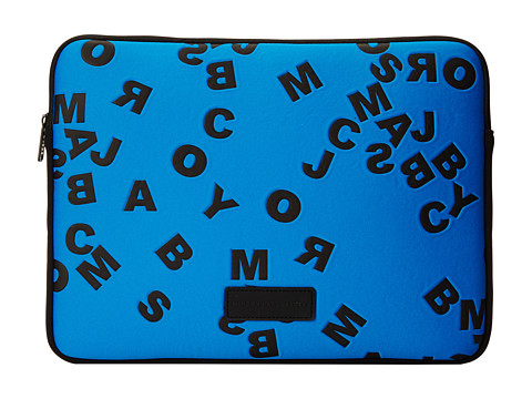 Marc by Marc Jacobs - Scrambled Logo Neoprene Tech 13 Computer Case (Directoire Blue) Computer Bags
