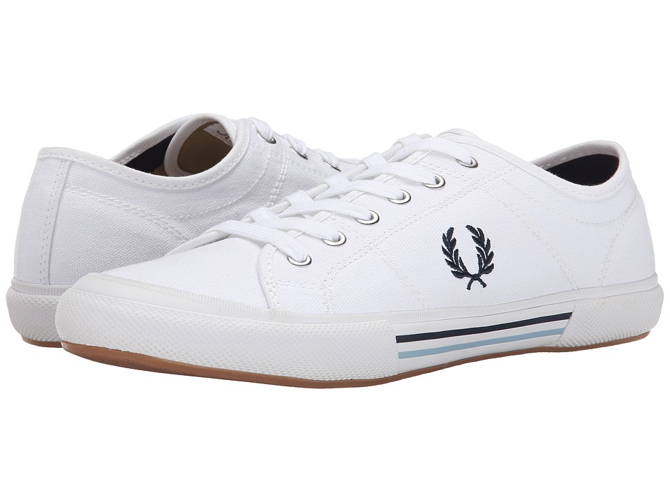 Fred Perry - Vintage Tennis Canvas (White/Navy/Ice) Men's Lace up casual Shoes