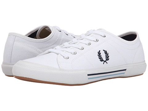 Fred Perry - Vintage Tennis Canvas (White/Navy/Ice) Men