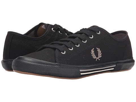 Fred Perry - Vintage Tennis Canvas (Black/Cloudburst/Light Ecru) Men's Lace up casual Shoes