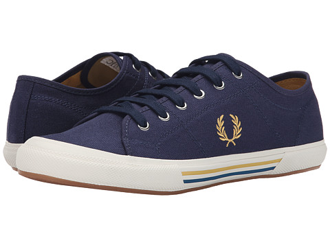Fred Perry - Vintage Tennis Canvas (Carbon Blue/Sweetcorn/Morrocan Blue) Men