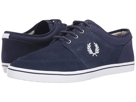 Fred Perry - Stratford Suede (Carbon Blue/Ecru) Men's Shoes