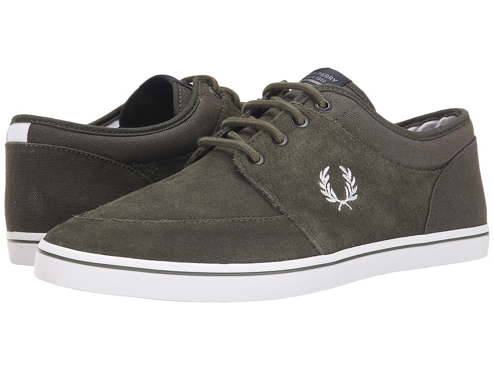 Fred Perry - Stratford Suede (Forest Night/White) Men's Shoes