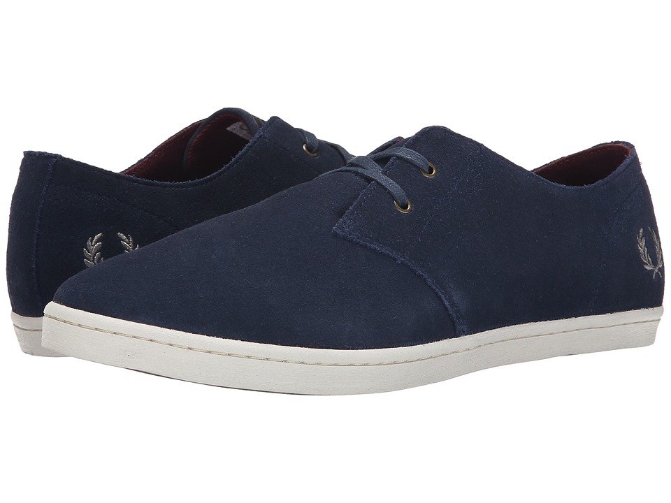 Fred Perry - Byron Low Suede (Carbon Blue/Mid Grey) Men's Shoes