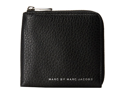 Marc by Marc Jacobs - Classic Leather Half Zip Card Holder (Black) Credit card Wallet
