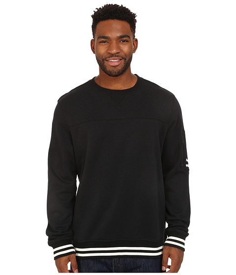 PUMA - Topo Graphic Sweat Crew (Black) Men's Long Sleeve Pullover