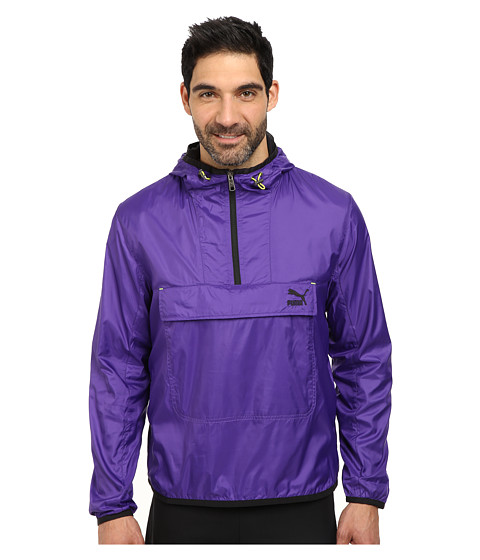 PUMA - MMQ Popover Wind Jacket (Prism Violet/Black) Men