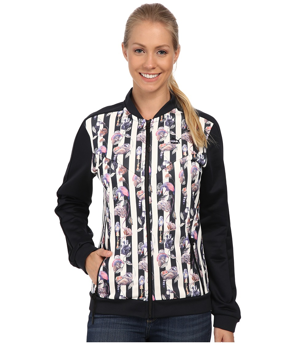 PUMA - Hoh Aop Track Jacket (Dark Navy/Stripe) Women's Coat
