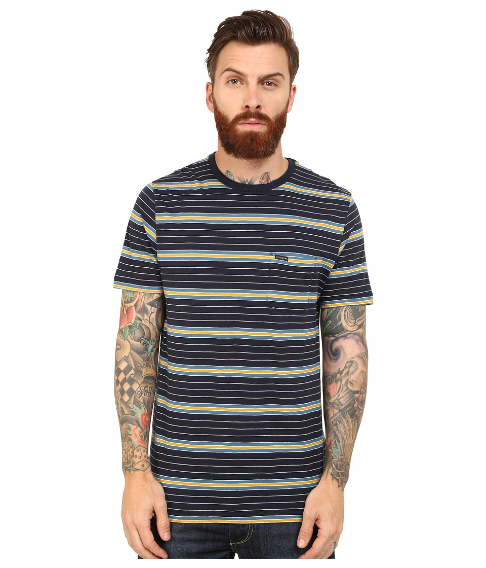 Volcom - Jiblets Crew (Navy) Men's Clothing