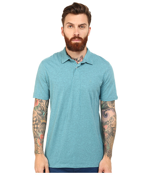 Volcom - Wowzer Polo (Used Blue) Men's Short Sleeve Knit