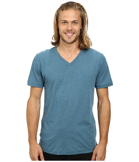 Volcom - Heather V-Neck Tee (Sun Faded Indigo Heather) Men