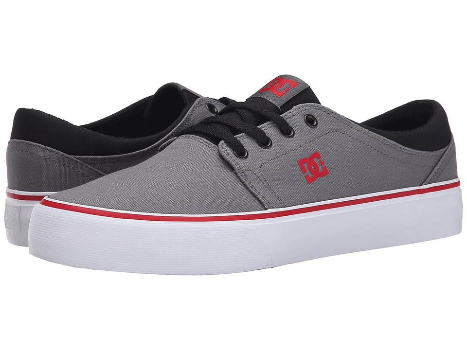 DC - Trase TX (Grey/Black/Red) Skate Shoes