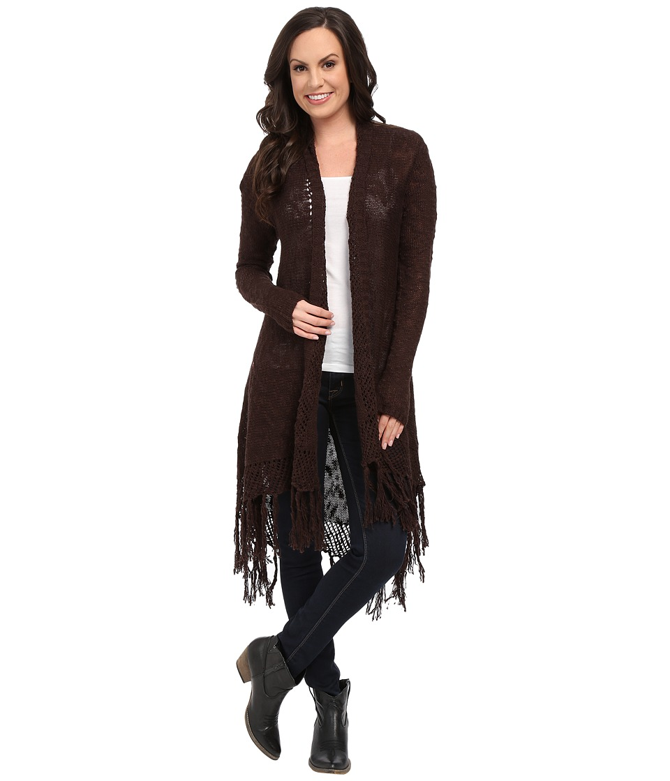 Ariat - Fringe Cardigan (Ganache) Women's Sweater