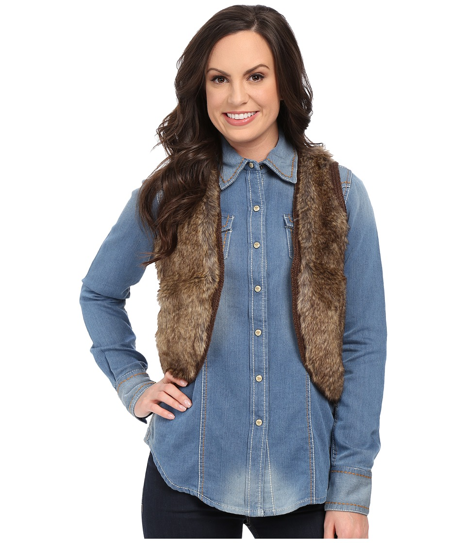 Ariat - Emma Fur Vest (Brown) Women's Vest
