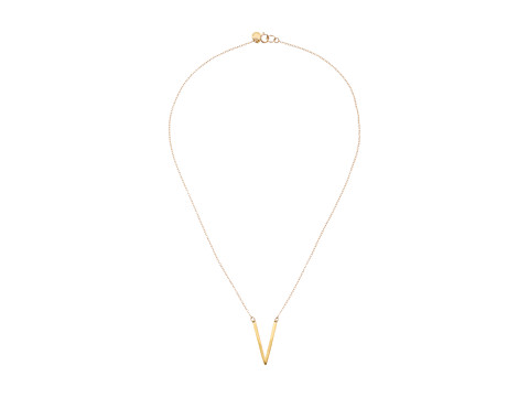 gorjana - Taner V Small Pendant Necklace (Gold) Necklace