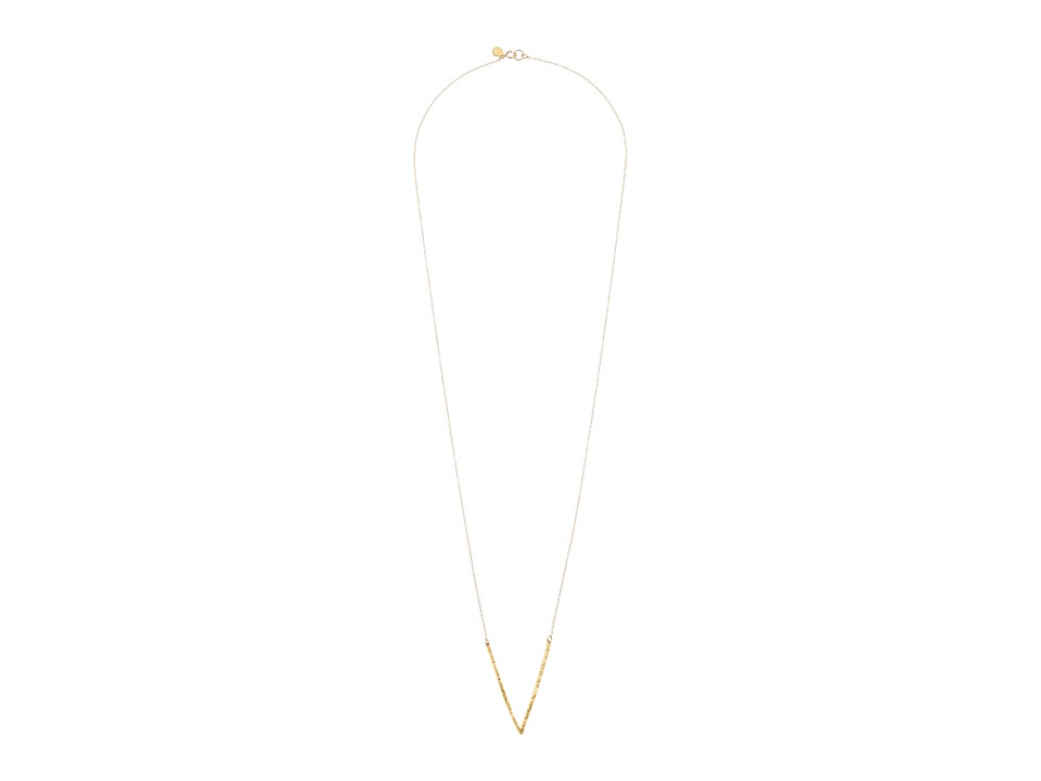 gorjana - Taner V Pendant Necklace (Gold) Necklace