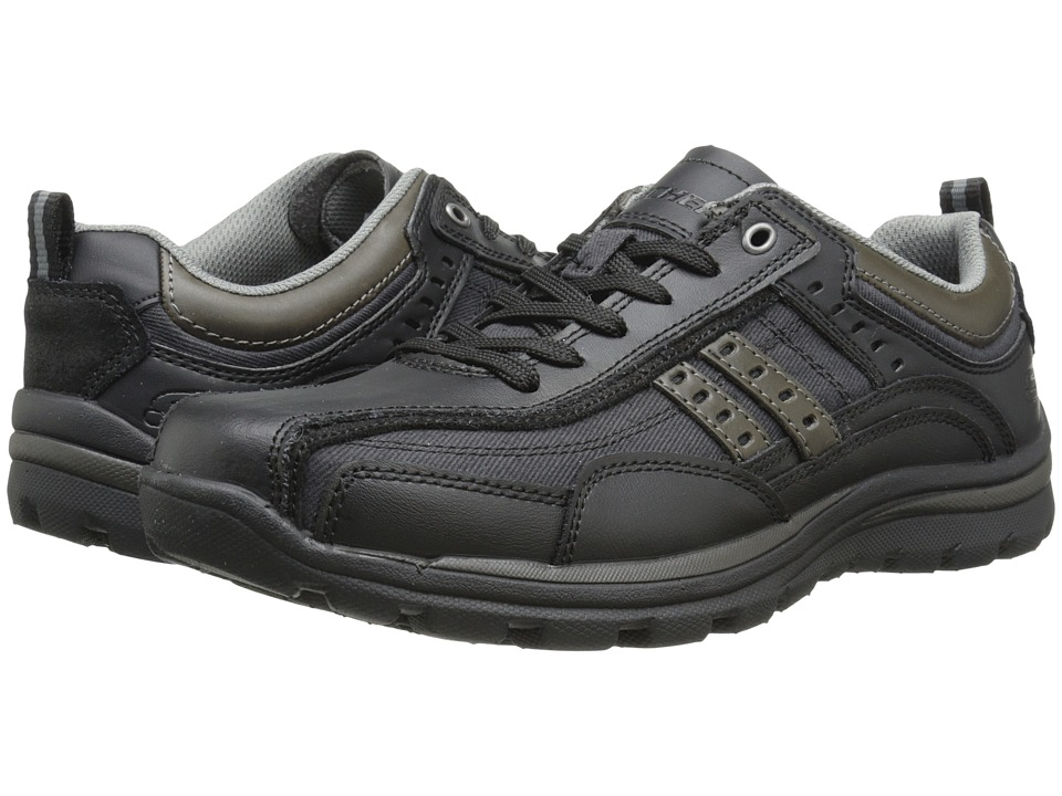 SKECHERS - Relaxed Fit Superior - Bonical (Black) Men's Lace up casual Shoes