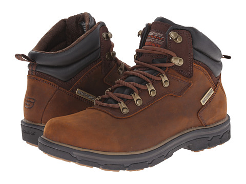 SKECHERS - Relaxed Fit Segment - Ander (Dark Brown) Men's Lace up casual Shoes