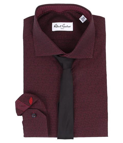 Robert Graham - Elmont Dress Shirt (Bordo) Men's Long Sleeve Button Up