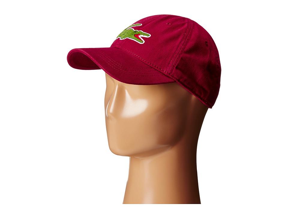 Lacoste - Big Croc Gabardine Cap (Beaujolais) Baseball Caps