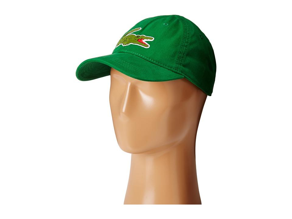 Lacoste - Big Croc Gabardine Cap (Rocket Green) Baseball Caps