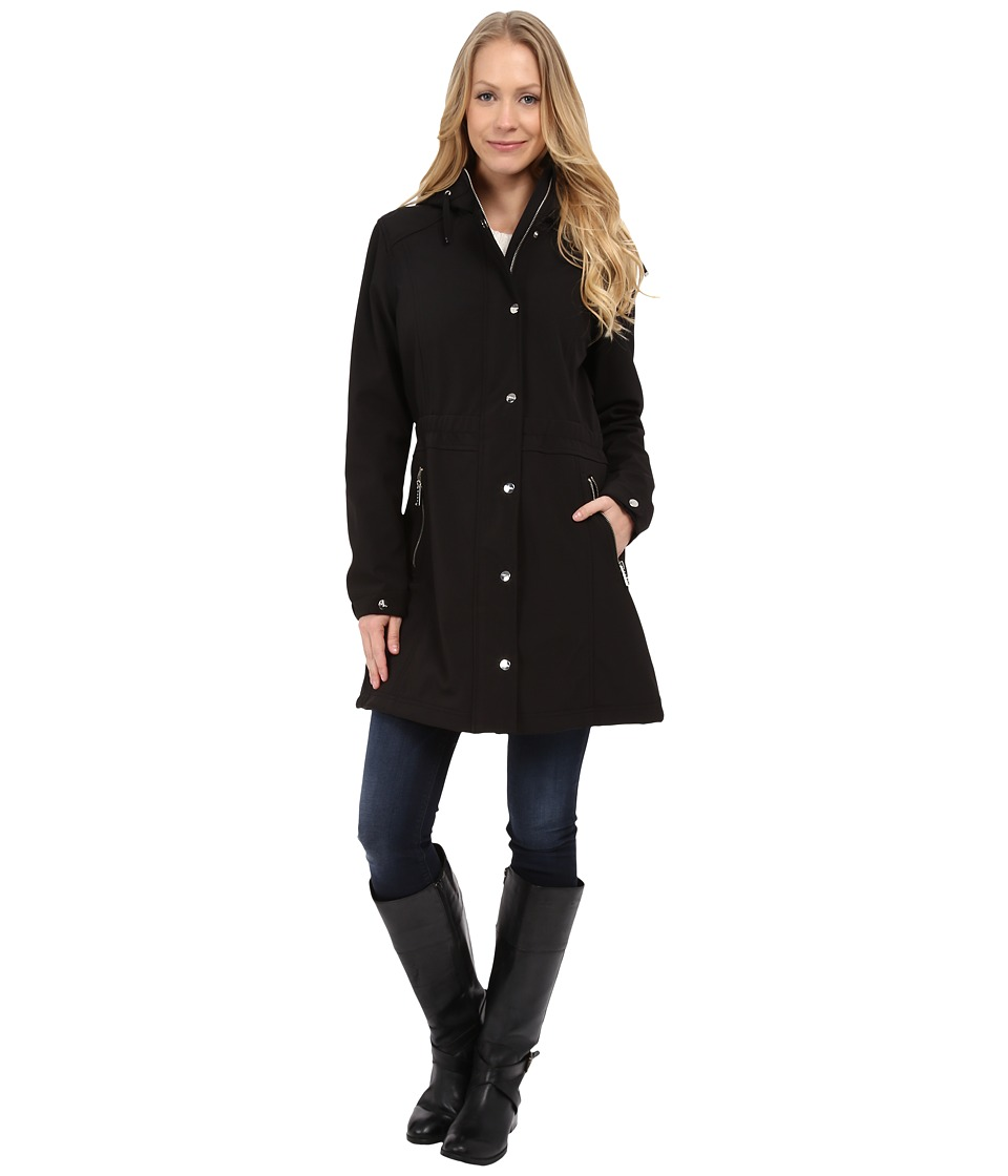 DKNY - Soft Shell Anorak Jacket (Black) Women's Coat