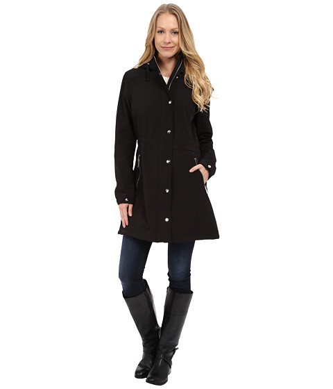 DKNY - Soft Shell Anorak Jacket (Black) Women