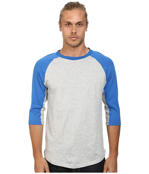Alternative - Cotton Modal Baseball Tee (Bright Blue) Men's Long Sleeve Pullover