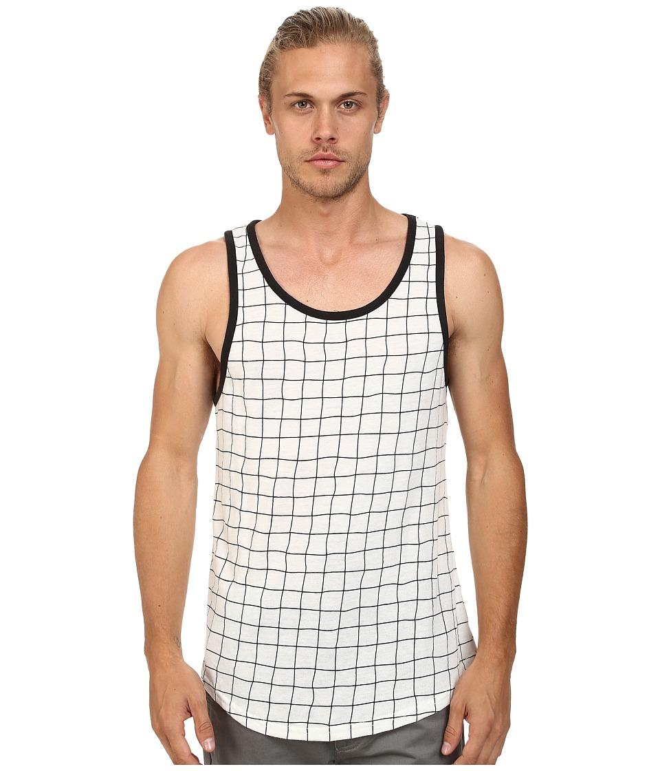 Alternative - Eco Jersey Tank Top (Black Grid) Men