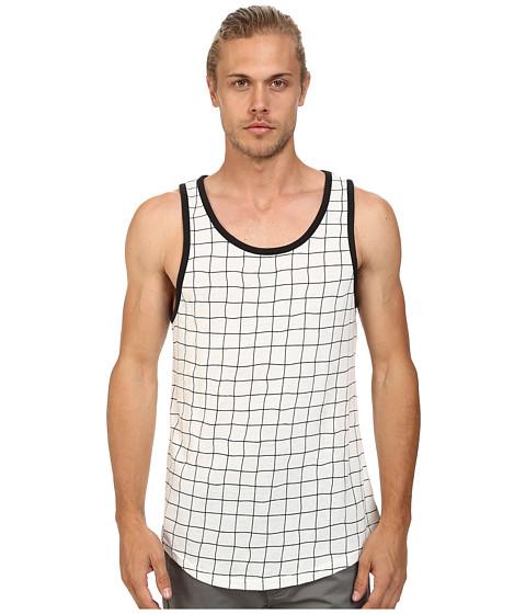Alternative - Eco Jersey Tank Top (Black Grid) Men's Sleeveless
