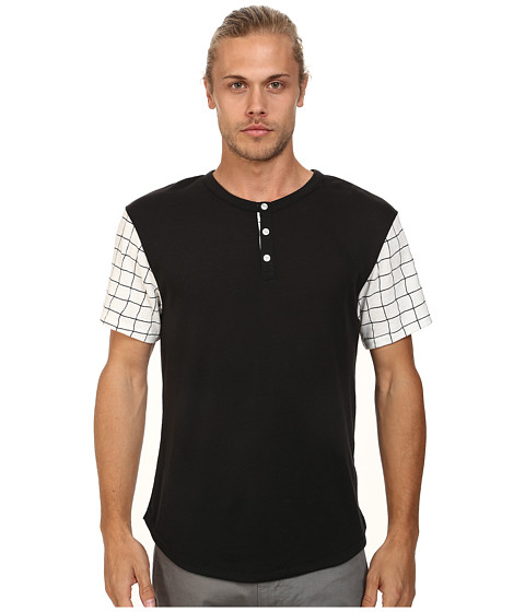 Alternative - Home Run Tee (Black Grid) Men's Short Sleeve Pullover
