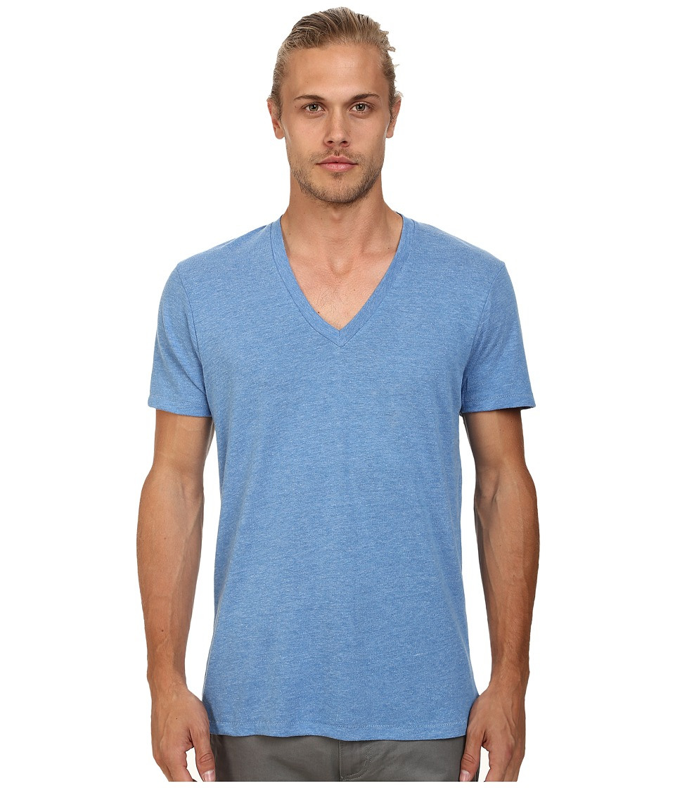 Alternative - Boss V-Neck Tee (Eco Bright Blue) Men's Short Sleeve Pullover
