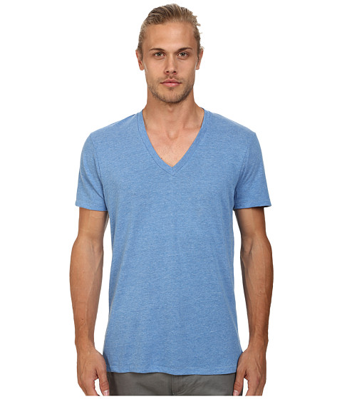 Alternative - Boss V-Neck Tee (Eco Bright Blue) Men