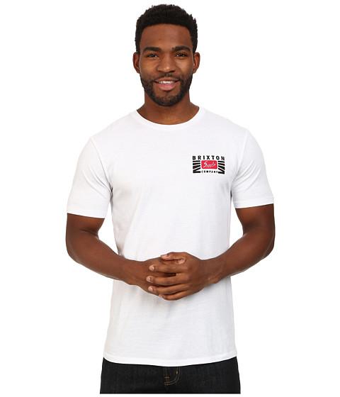 Brixton - Petrol S/S Premium Tee (White) Men's T Shirt