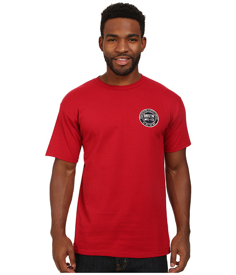 Brixton - Cutler Short Sleeve Standard Tee (Red) Men