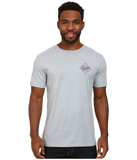 Brixton - Wesson S/S Premium Tee (Denim) Men's T Shirt