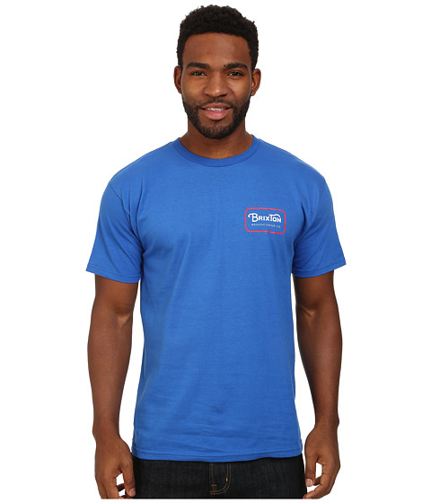 Brixton - Grade Short Sleeve Standard Tee (Royal) Men