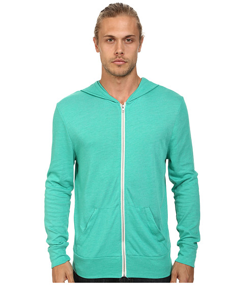 Alternative - L/S Zip Hoodie (Eco True Pepper Green) Men