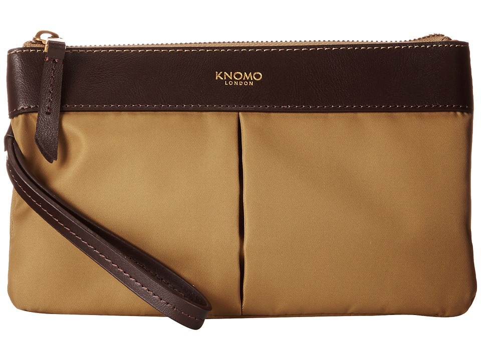 KNOMO London - Dering Smartphone Charge Pouch (Khaki) Luggage