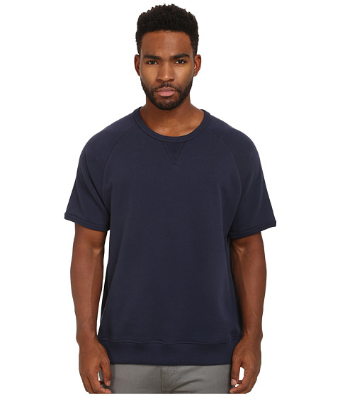 Alternative - Organic Light French Terry Short Sleeve Crew (Midnight) Men