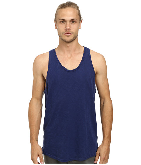 Alternative - Washed Out Slub Tank Top (Midnight) Men's Sleeveless